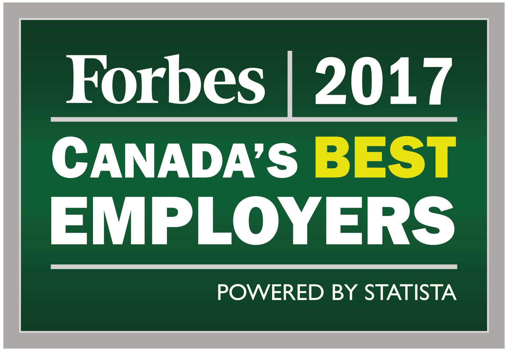 Forbes 2017 Canada's Best Employer
